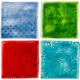 Handmade ceramic tiles Royalty Free Stock Photo