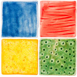 Handmade ceramic tiles Stock Image