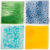 Handmade ceramic tiles Stock Photos