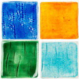 Handmade ceramiczne płytki Obrazy Royalty Free