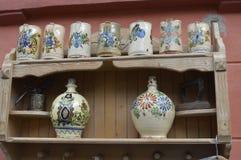Handmade ceramiczni kubki, pamiątki zdjęcie royalty free