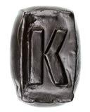 Handmade ceramiczny list K Zdjęcia Stock