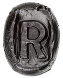 Handmade ceramiczny list R Obraz Stock