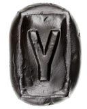 Handmade ceramiczny list Y Zdjęcia Stock