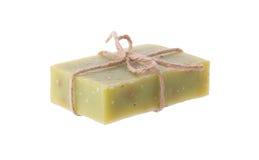 Handmade chamomile mydło na białym tle Obrazy Royalty Free