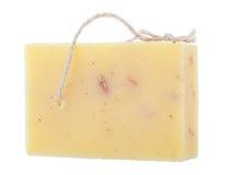 Handmade chamomile mydło odizolowywający na białym tle Obrazy Royalty Free