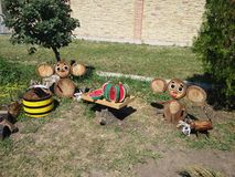Handmade Cheburashka Royalty Free Stock Images