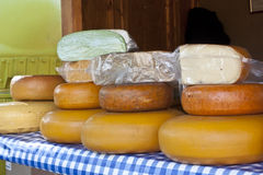 Handmade cheese. Cheese from a small farm Royalty Free Stock Images