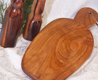 Handmade Cherry Wood Kitchen Board Stock Images