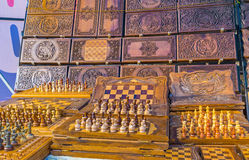 The handmade chess Royalty Free Stock Image