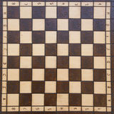 Handmade chessboard Stock Images