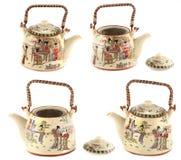 Handmade chińczyk malujący czajnik Obrazy Royalty Free