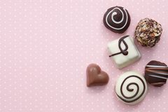 Free Handmade Chocolate Candy Sweets Stock Images - 109610914