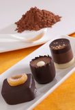 Handmade chocolate, closeup Stock Photography
