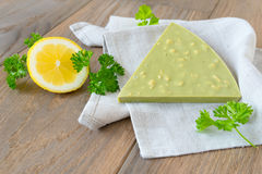 Handmade chocolate with lemon and herbs Stock Photography