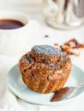 Handmade chocolate muffins with carob, honey, raisins and poppy Royalty Free Stock Photography