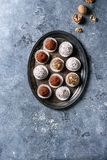 Handmade chocolate truffles royalty free stock images