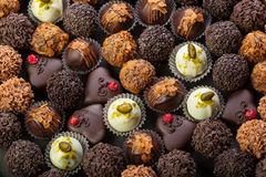 Handmade chocolates Stock Photography