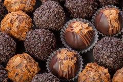 Handmade chocolates Stock Photography