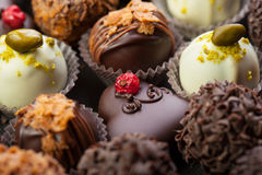 Handmade chocolates Stock Photo