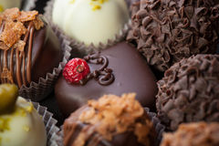 Handmade chocolates Royalty Free Stock Photography