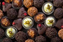 Handmade chocolates Stock Photos