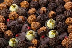 Handmade chocolates Stock Photo