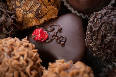Handmade chocolates Royalty Free Stock Image