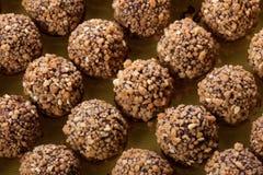 Handmade chocolates ball Royalty Free Stock Image