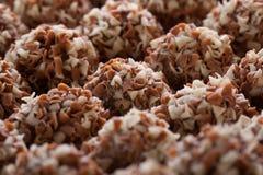 Handmade chocolates ball Stock Images