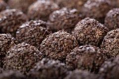 Handmade chocolates ball Stock Photos
