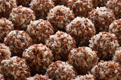 Handmade chocolates ball Royalty Free Stock Photography