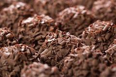 Handmade chocolates ball Stock Photo