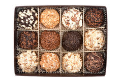 Handmade chocolates box Stock Image