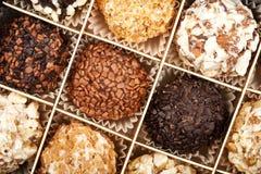 Handmade chocolates box Stock Photography
