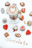Handmade chocolates with coffee Royalty Free Stock Photo