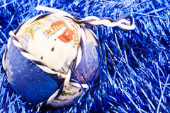 Handmade Christmas Ball Stock Photography