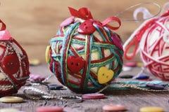 Handmade christmas balls Stock Images