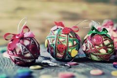 Handmade christmas balls, filtered Stock Image