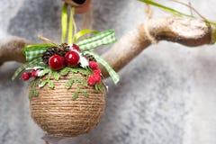 Handmade Christmas balls Royalty Free Stock Photos