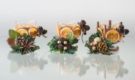 Handmade Christmas Candle Holders Stock Images