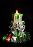 Handmade Christmas Candles Royalty Free Stock Images