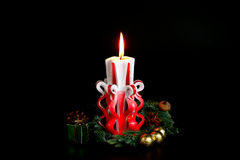 Handmade Christmas Candles Royalty Free Stock Photography