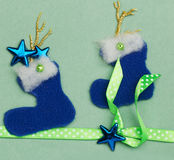 Handmade Christmas card Stock Photos