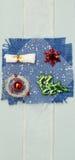 Handmade Christmas card. Hand made Christmas card closeup Royalty Free Stock Photography