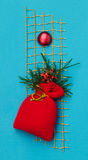 Handmade Christmas card Royalty Free Stock Photography