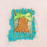Handmade Christmas card Stock Images