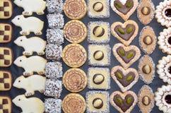 Handmade Christmas Cookies stock images