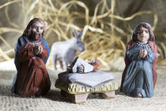 Handmade Christmas crib Stock Image