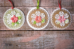 Handmade Christmas decoration Stock Images